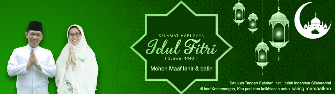 Banner Hari Raya Idul Fitri 1440H